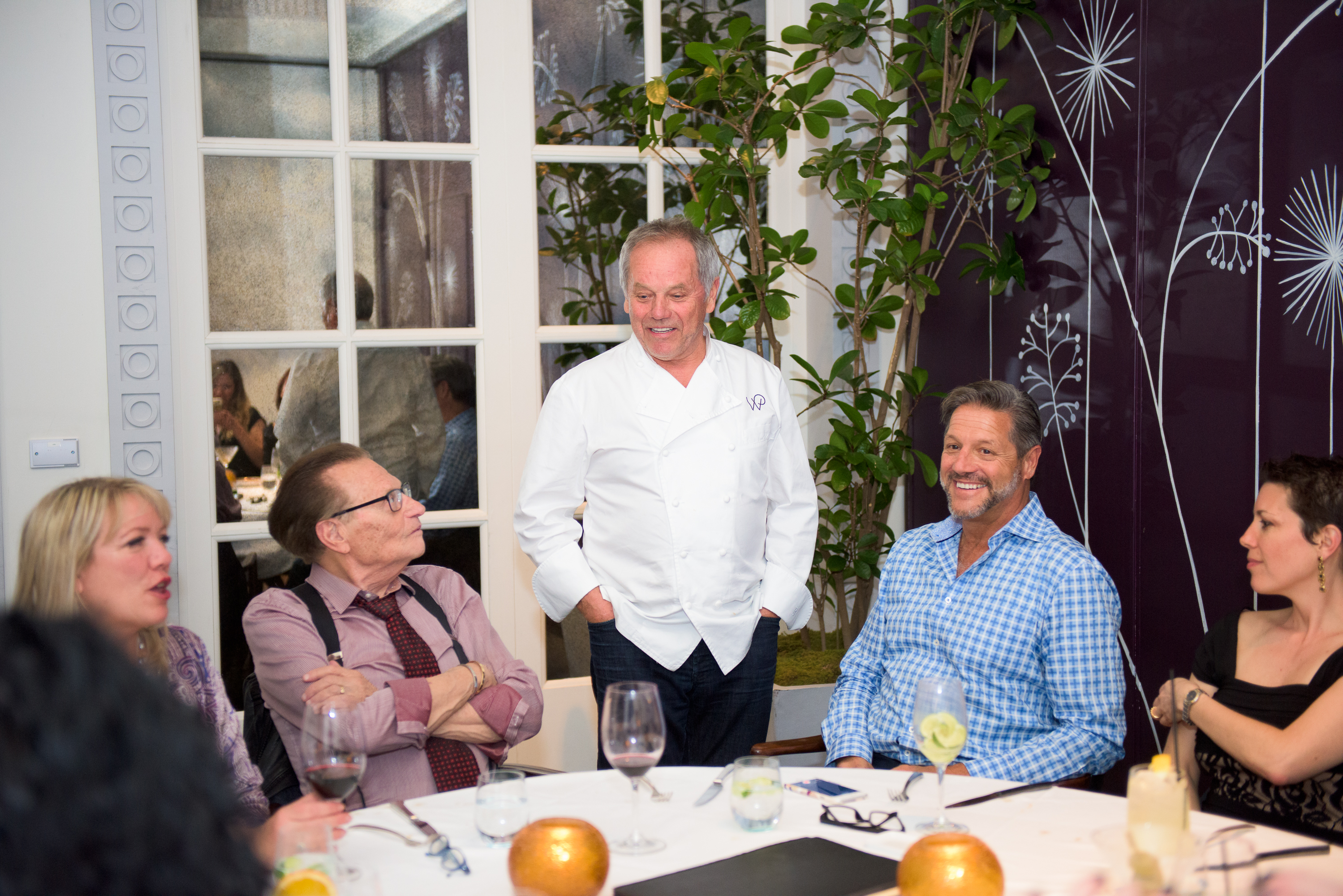 John with Wolfgang Puck, Larry King and Guests